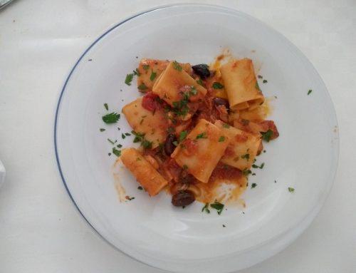 Pacchero con olive e stoccafisso