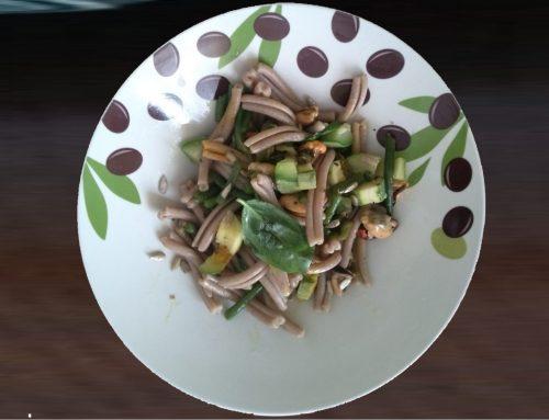 Strozzaprete integrale cozze, zucchine, fagiolini